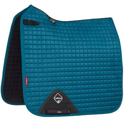 LeMieux ProSport Suede Dressage Square Peacock Green-Full Size